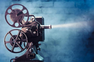 Projection de cinéma