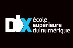 Logo - Dix, Ecole supérieure du numérique