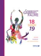 Plaquette de saison du conservatoire Gabriel Fauré
