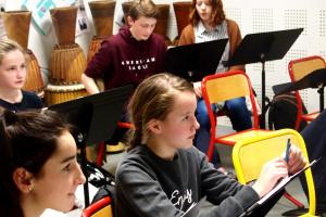 Élèves en formation musicale